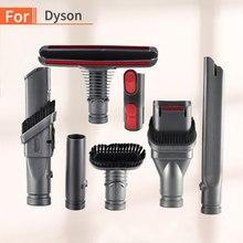 Dyson aspiradora V7 V8 V10, 7 Uds., piezas de limpiador al vacío absoluto, soporte para cepillo, Base de herramienta con boquilla, piezas de estación de resorte