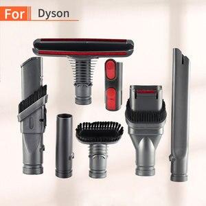 Image 1 - Dyson aspiradora V7 V8 V10, 7 Uds., piezas de limpiador al vacío absoluto, soporte para cepillo, Base de herramienta con boquilla, piezas de estación de resorte