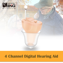 Hearing Aid Noise Cancelling CIC digital Adjustable Volume Control Small Sound Amplifier Senior Mini Invisible Hearing Aids digital hearing aid programming cable wire hearing aid accessories for all type bte ric cic brand aparato para sordos