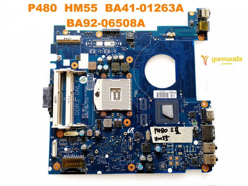 Original for <font><b>Samsung</b></font> <font><b>P480</b></font> laptop motherboard <font><b>P480</b></font> HM55 BA41-01263A BA92-06508A tested good free shipping image