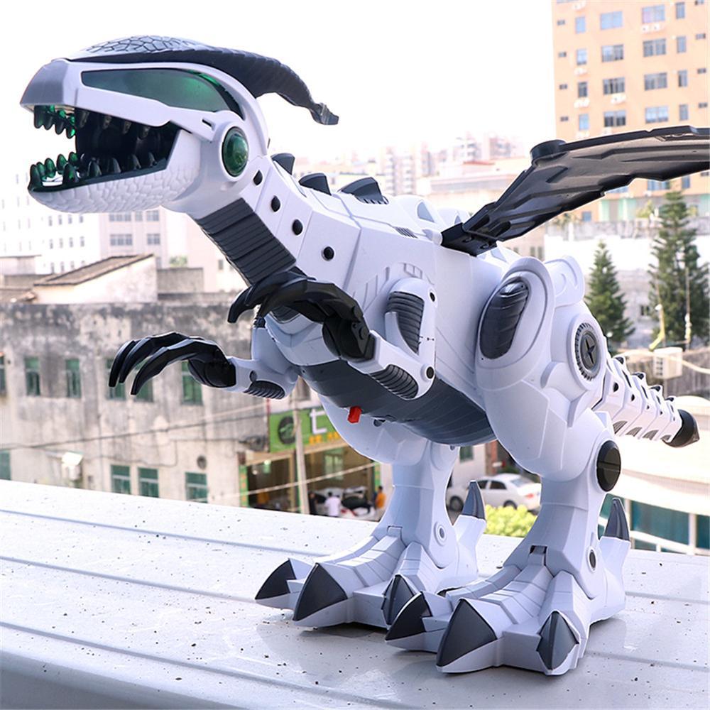 Big Spray Dinosaurs Robot Pterosaurs Cartoon Walking Swing Animal Model Electronic Intelligent Dinosaurio Toys Gift For Children
