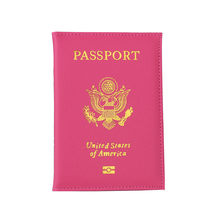 Travel Passport Cover Pink Soft Pu Leather Passport Case Cute Covers For Passports Pochette Passeport Cover for documents(China)