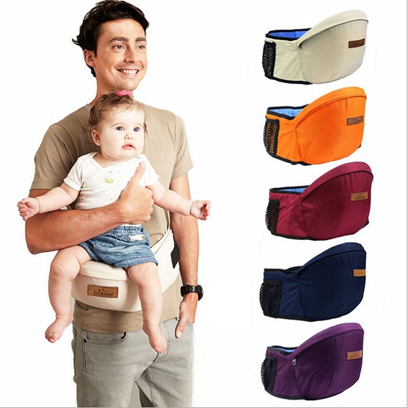 Portable Baby Universal Backpacks Carriers Multifunctional Breathable Infant Hip Seat Reduces Stress Off Your Back