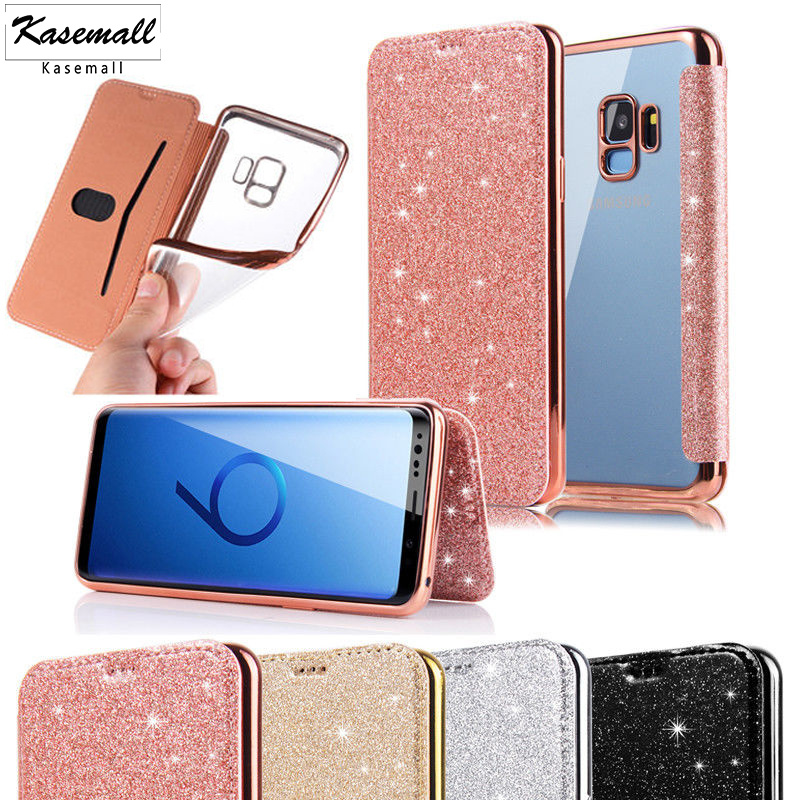 For <font><b>Samsung</b></font> Galaxy S8 <font><b>S9</b></font> S10 Plus S10e <font><b>Case</b></font> Luxury Bling Glitter <font><b>Flip</b></font> Leather <font><b>Case</b></font> For <font><b>Samsung</b></font> Note 10 Plus 8 9 Wallet Card Capa image