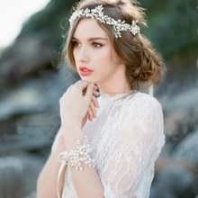 Романтическая женская свадебная повязка на голову кружевная