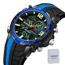 Мужские спортивные кварцевые часы водонепроницаемые наручные