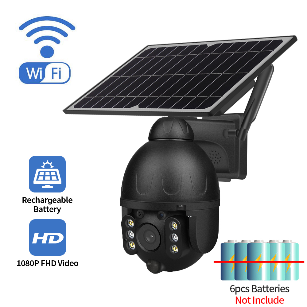 WIFI 2MP HD PTZ Outdoor Low Power Solar Camera Two way Audio Voice Intrusion Alarm Solar Panel Camera IP66 Waterpoor Camera|Surveillance Cameras| - AliExpress