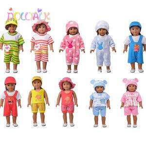Горячая Мода 18 дюймов комплект детской кукольной одежды 3 шт./компл. Fot 43 см детская кукольная одежда Reborn Doll аксессуары нашего поколения
