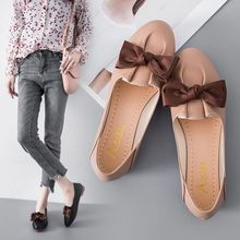 Soft ladies loafers PU leather flats women casual flats women's butterfly-knot female summer runway shoes