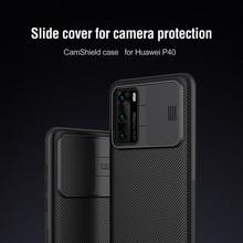 Pour Huawei P40 étui NIllkin glissière caméra couverture téléphone étui lentille Protection couverture pour Huawei P40 Pro étui de téléphone portable