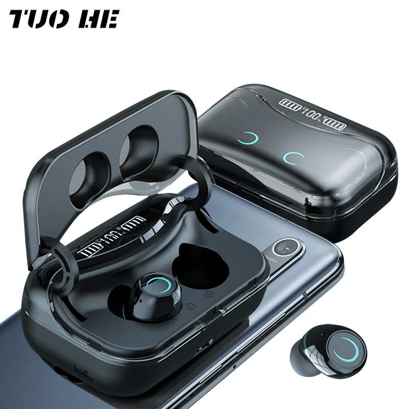 G08 TWS Earphone Bluetooth 5.1 Wireless Headphons Touch Control 9D HiFi Waterproof Earbuds Headset with LED Display Charging Box