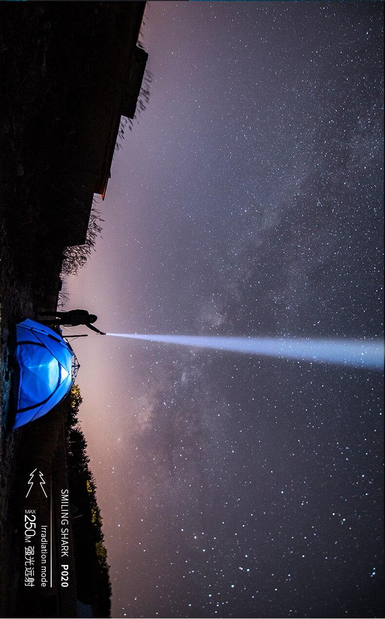 Acampamento ao ar livre lanterna de montagem