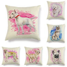 Hongbo 1 Pcs Colorful Animals Throw Pillow Cushion Cover Car Home Sofa Decorative Pillowcase Christmas Decorations