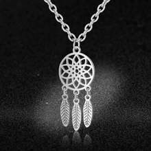 Fabulous Dream Catcher Pendant Necklace Wholesale Real Stainless Steel Bohemia Jewelry Bracelet Party Boho Earrings Dropshipping(China)