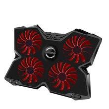 Кулер для игрового ноутбука четыре вентилятора светодиодный