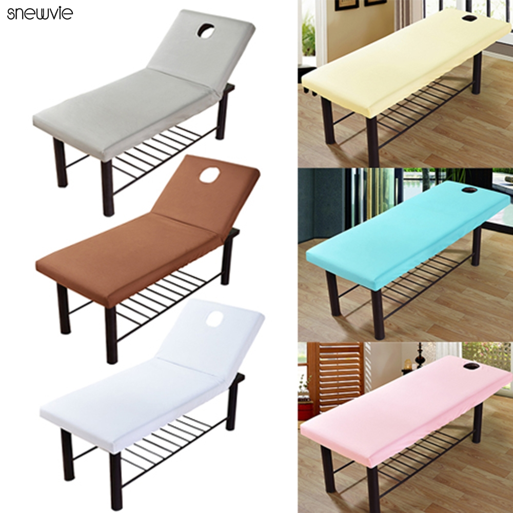 Cosmetic Salon Beds Sheets Cover SPA Massage Treatment Bed Table Cover Sheet with Hole 190x70cm