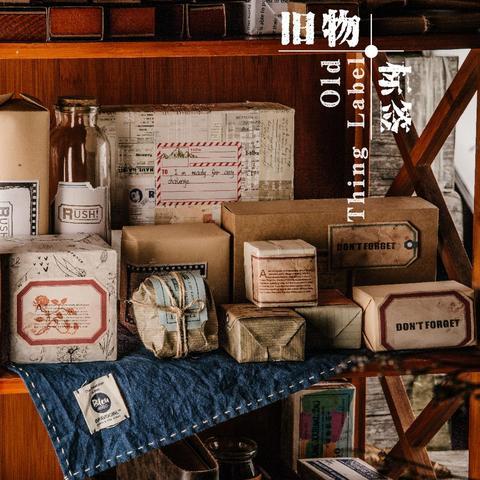 adesivo de etiquetas de roupas antigas 8 pcs lote papelaria material de decoracao criativa adesivo
