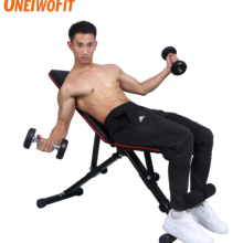 OneTwoFit Fitness Muscle Bench Dumbbells Bodybuilding Bench Exercise Training Workout Home Gym Equipments Abdominal Board