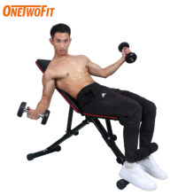OneTwoFit Gym Dumbbells Bench Adjustable Muscle Bench Abdominal Workout Bench Sit Up Dumbbell Weights Fitness Equipment for Home