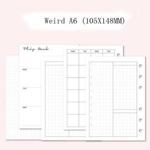 2020 Lovedoki 105X145MM Weird A6 еженедельные ежемесячные страницы наполнителя планировщик блокнот бумага