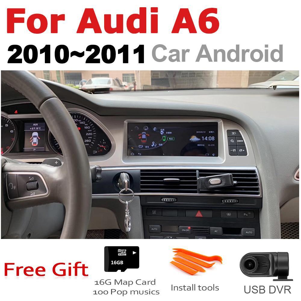 Lecteur multimédia Android de voiture pour Audi A6 4F 2010 ~ 2011 MMI 2G MMI 3G GPS Navi carte stéréo Bluetooth IPS écran RAM 4G ROM 32G