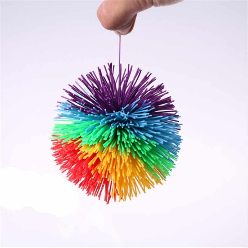Anti-Stress 6cm/9cm Regenbogen Zappeln Sensorischen Ball Baby Lustige Stretchy Ball Stress Relief Kinder Autismus spezielle Bedürfnisse