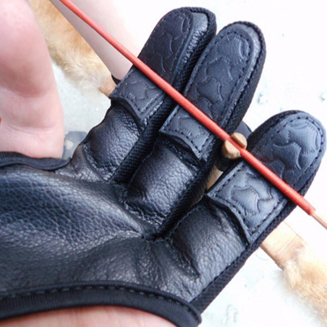 1Pc Fingers High Elastic Hand Guard Protective Archery Bow Shooting Glove for Recurve Compound Bow hunting Fit LH / RH Accessory 4