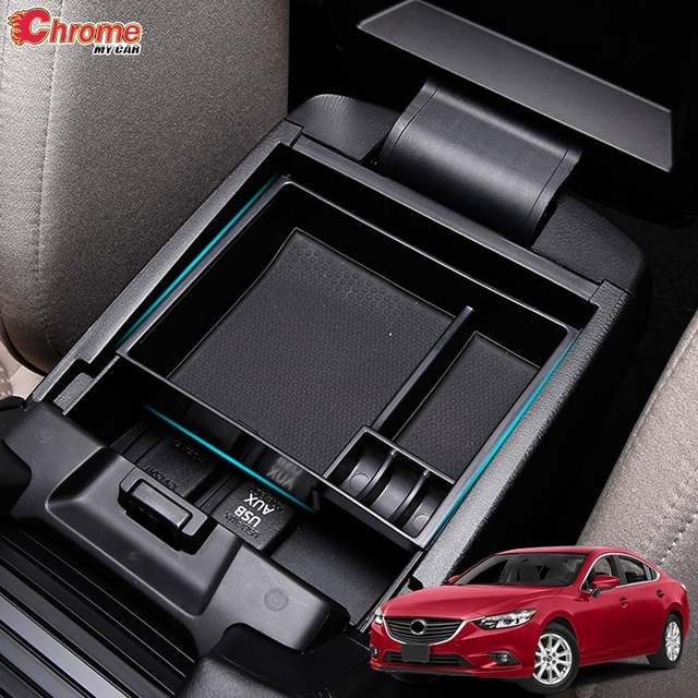 For Mazda 6 Atenza GJ 2013 2014 2015 2016 2017 Armrest Secondary Storage Pallet Container Holder Glove Box Tray Car Accessories