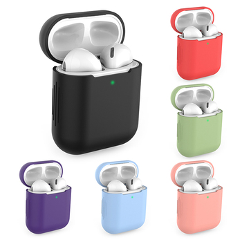 New Silicone Cases for Airpods1/2 Wireless Earphone Protective Earphone Cover Case for Apple Airpods Case 1/2 Shockproof Sleeve image