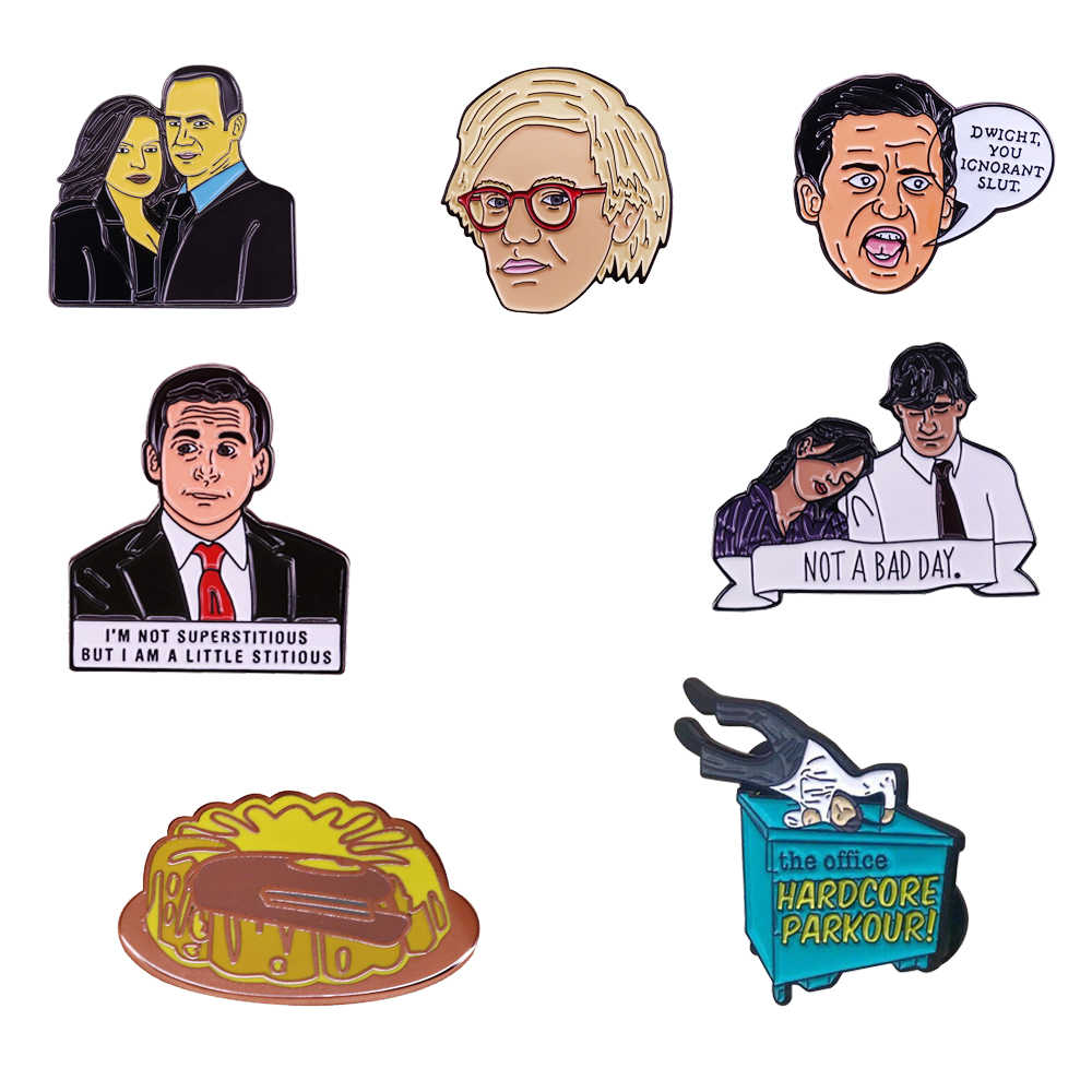 Het Kantoor Emaille Pin Tv Show Woordspeling Art Badge