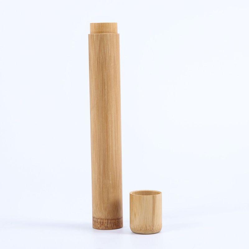 Bamboo Toothbrush Novelty Wooden Teeth Brush Soft-bristle Bamboo Fiber Wooden Handle Bamboo Tube Charcoal Set