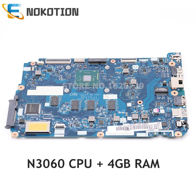 NOKOTION 5B20L46211 Laptop <font><b>Motherboard</b></font> FOR <font><b>LENOVO</b></font> <font><b>IDEAPAD</b></font> <font><b>110</b></font>-15IBR CG520 NM-A801 SR2KN N3060 4G System Board Work Good image