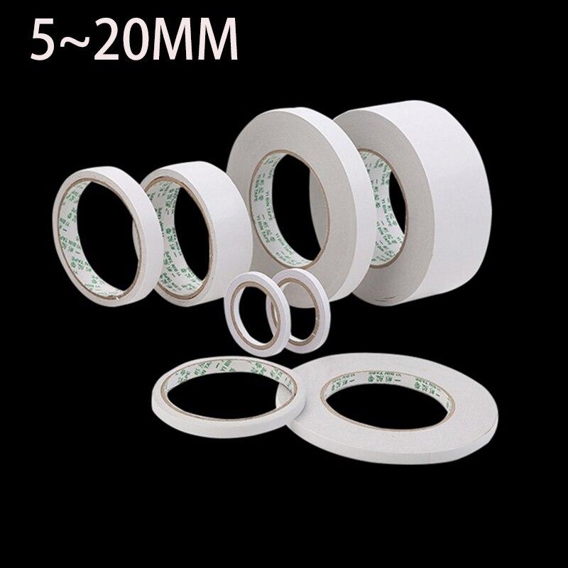 Двухсторонняя клейкая лента, белый суперпрочный скотч, 8 м, 8 мм 10 мм 12 мм