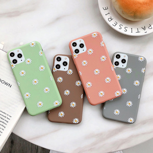 Moskado Flowers Phone Case For iPhone 11 Pro X XR XS Max 7 8 6 6s Plus 5 5s SE Chrysanthemum Floral Soft TPU Silicone Back Cover(China)
