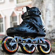 3 Wheel Inline Skates Professional Adult Roller Skating Shoes Roller Sneaker Slalom Speed Patines Free Skating Racing Skates