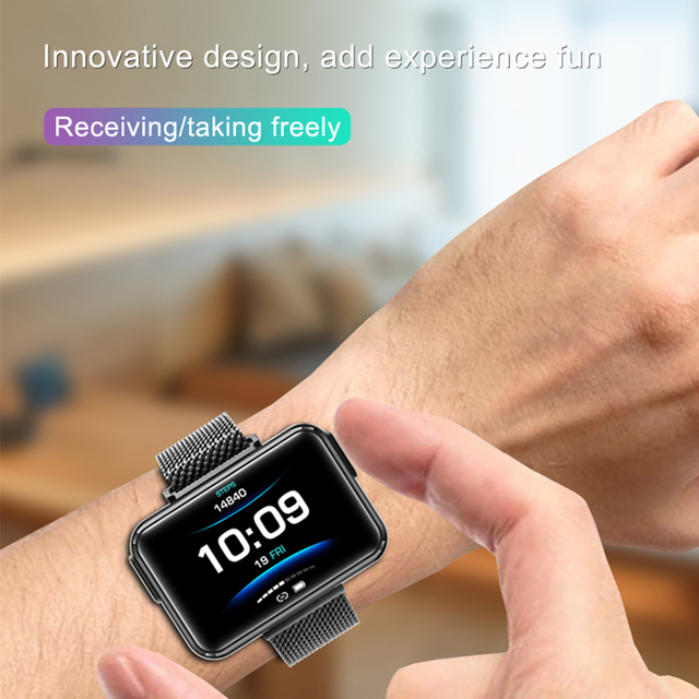 LEMFO TWS Wireless Bluetooth Earphones Smart Watch Men 1.4 Inch Big Customized Dials Bluetooth Calls Smartwatch pk airpods set 2