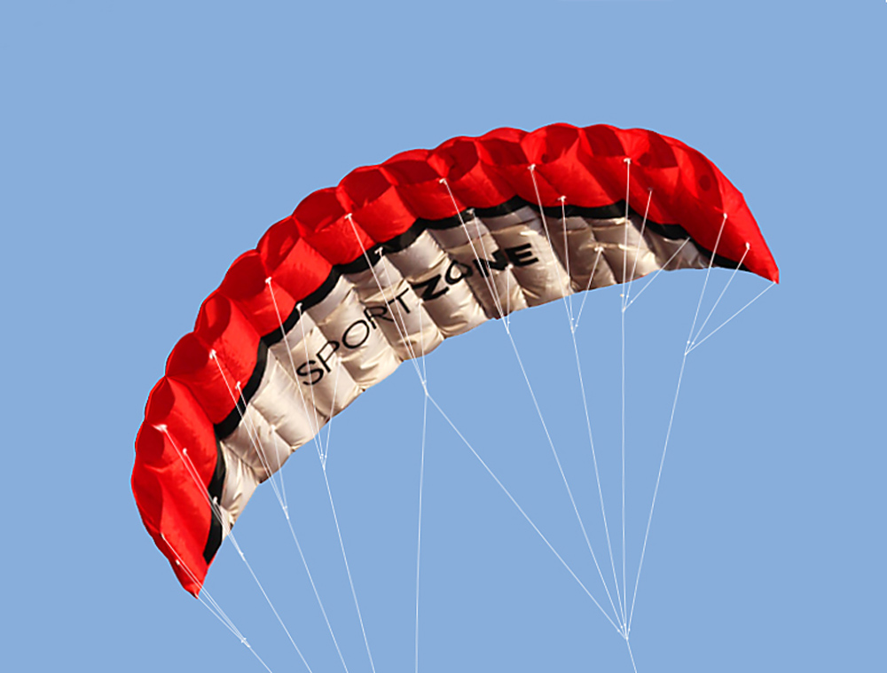 Enfants 255*85 cm arc-en-ciel cerf-volant sport plage doux cerf-volant enfant Camping double ligne Parafoil cerf-volant tresse voile avec poignée 30m ligne