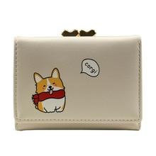 Cartoon Cute Corgi Wallet Women Card Holder Ladies