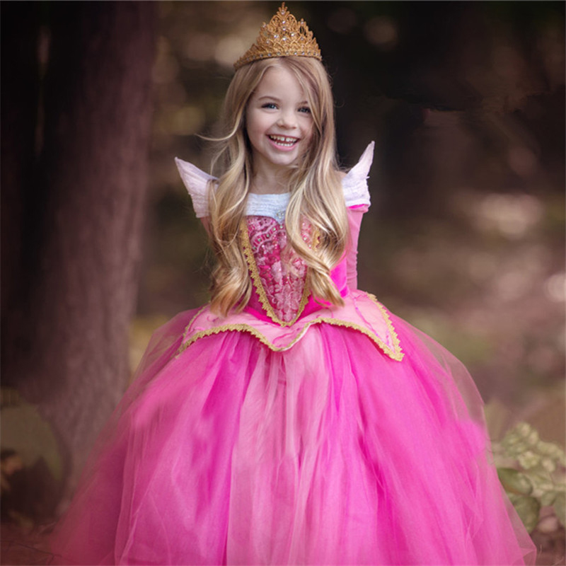Fancy Princess Dress For Girls Halloween Cosplay Dresses Dress Up Costume Children Party Clothes 6