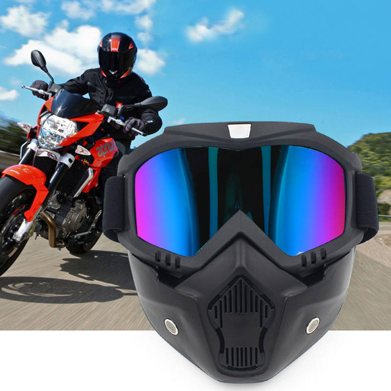 Ski Snowboard Mask Winter Snowmobile Skiing Mask Safety Protective Goggles Skiing Glass Motocross Sunglasses With Mouth Filter