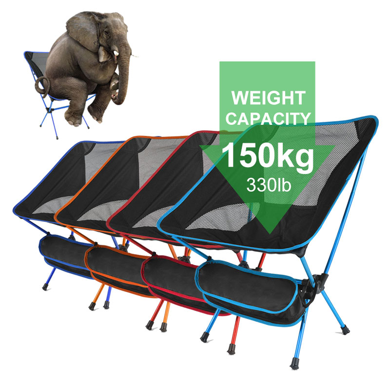 Ultralight Folding Camping Chair Fishing Picnic Chair BBQ Hiking Chair Outdoor Tools Travel Foldable Beach Seat Chair