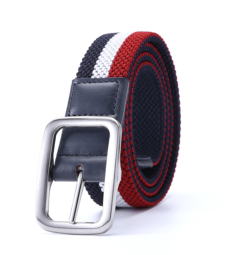 Male Dress Elastic Fabric Woven Stretch Multicolored Braided Golf Hiking Dress Casual Pants Jeans Belt For Men