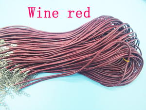 Image 4 - Livraison gratuite!!! 1000 pièces bricolage fait main noir tressé cire collier cordon, 1.5mm 45cm longueur collier cordon
