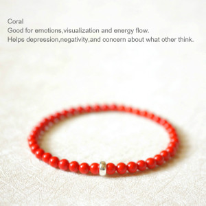 Image 2 - Lily Jewelry Red Coral 925 Sterling silver Bracelet New Year Gift for Women or Men Dropshipping