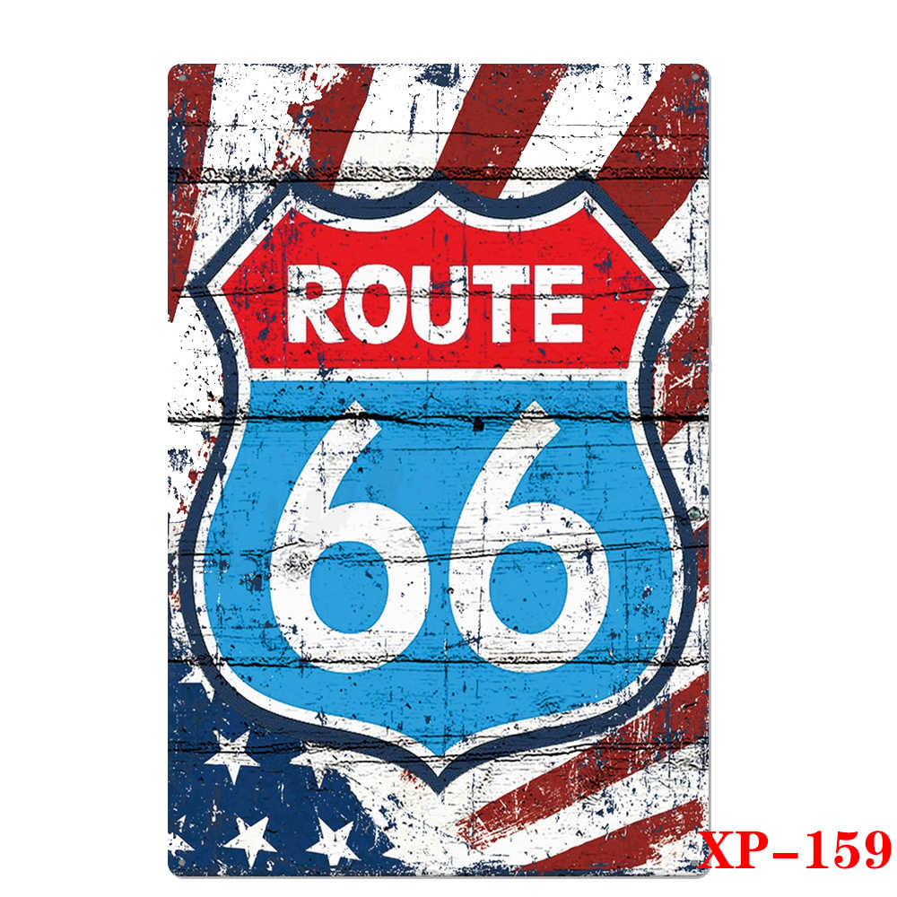 2020 الطريق 66 المعادن تسجيل لوحة معدنية Vintage حانة بار ديكور تين تسجيل المرآب لوحة ملصق المنزل فن الديكور اللوحة الجدار ملصق