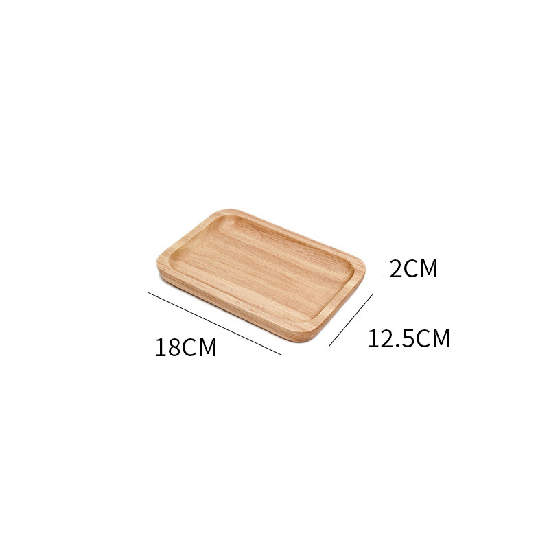 Wooden Round Storage Tray Plate Tea Food Dishe Drink Platter Food Plate Dinner Beef Steak Fruit Snack Tray Home Kitchen Decor - Цвет: 8