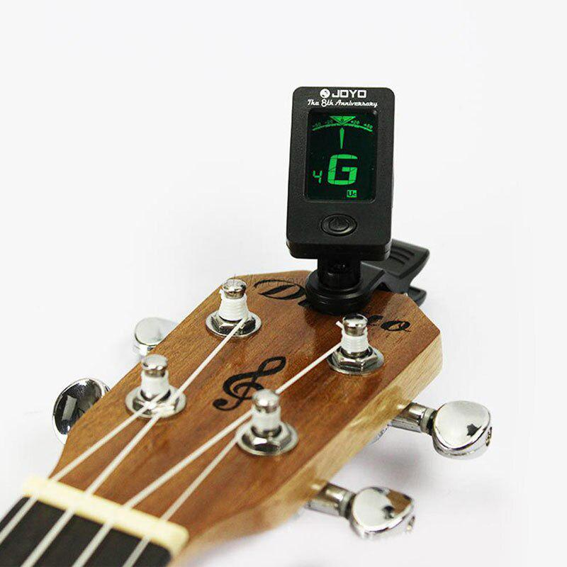 D15 Guitar Tuner Rotatable Clip-on Tuner LCD Display For Chromatic Acoustic Guitar Bass Ukulele Guitar Accessories