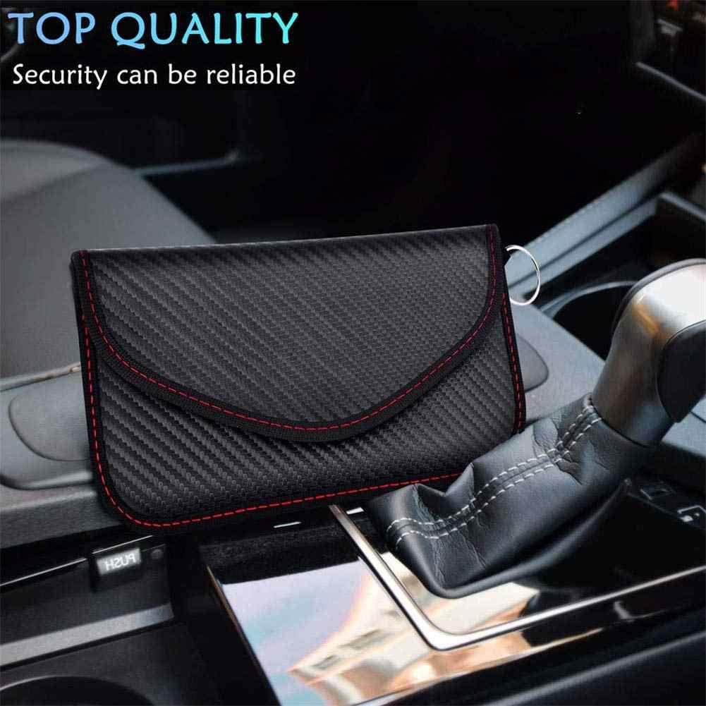 New Carbon Fiber Business luxury Wallet Phone Case Signal Blocking Faraday Shield Cage Pouch Privacy Protection Car Key Bag