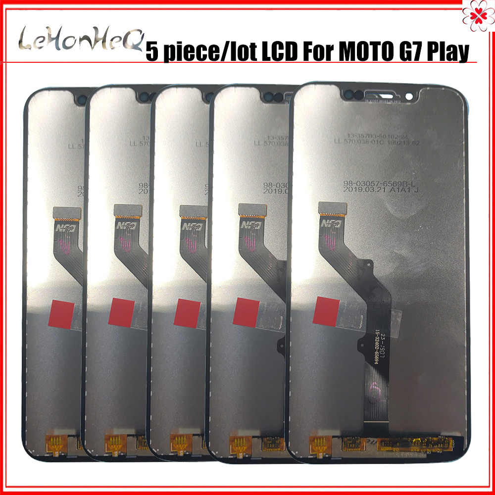 5 Piece/lot LCD Display For Moto G7 Play LCD Display Touch Screen Sensor Panel Digitizer Assembly For Moto G7 Play LCD