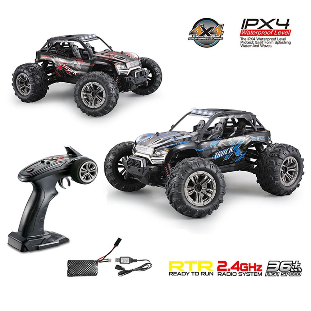 Xinlehong 9137 1/16 2.4G 4WD 36km/h RC Car W/ LED Light Desert Off-Road High Class Truck RTR Toy